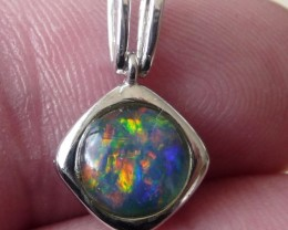 Pretty Australian Triplet Opal and Sterling Silver Pendant (1085g)