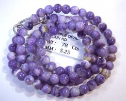 "78- CTS PURPLE OPAL BEADS - FROM MEXICO ""MORADO"" LO-4841"