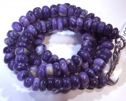 "135- CTS PURPLE OPAL BEADS - FROM MEXICO ""MORADO"" LO-4843"
