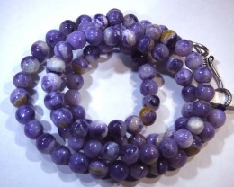 "83- CTS PURPLE OPAL BEADS - FROM MEXICO ""MORADO"" LO-4844"