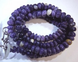 "104- CTS PURPLE OPAL BEADS - FROM MEXICO ""MORADO"" LO-4845"
