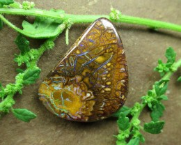 "29cts,""BOULDER MATRIX OPAL~SIDE DRILLED STONE"""