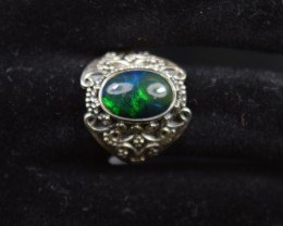 NATURAL ETHIOPIAN OPAL RING 925 STERLING SILVER