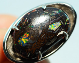 49.15CT  KOROIT BOULDER OPAL RING WITH SILVER  SS0877