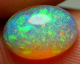 1.60 CRT BRILLIANT CRYSTAL CLEAR PIN FIRE GRENNISH RIBBON PATTERN WELO OPAL
