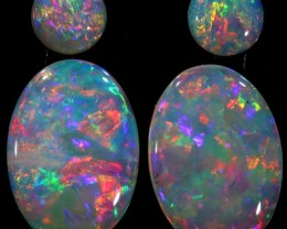 2.09 CTS PAIR OF CRYSTAL OPALS[SEDA1226]