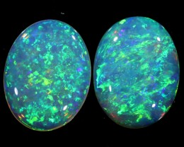 1.56 CTS PAIR OF CRYSTAL OPALS[SEDA1229]