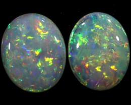 2.68 CTS PAIR OF CRYSTAL OPALS[SEDA1231]