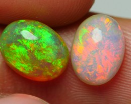 2.20 CRT BRILLIANT PAIR GRENISH RED FIRE BRIGTH WELO OPAL