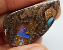 16.80 CT VIEW PIPE WOOD REPLACEMENT BOULDER OPAL  TT472