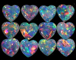 1.91 CTS CRYSTAL OPAL HEART SHAPED PARCEL CALIBRATED [C68]SAFE