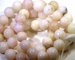 128- CTS PINK OPAL BEADS  STRAND  LO-4852