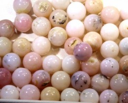 128- CTS PINK OPAL BEADS    LO-4854