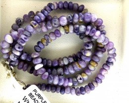 "95- CTS PURPLE OPAL BEADS - FROM MEXICO ""MORADO"" LO-4862"
