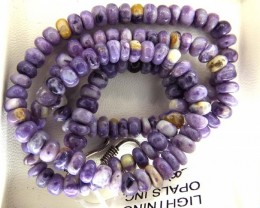 "166- CTS PURPLE OPAL BEADS - FROM MEXICO ""MORADO"" LO-4863"