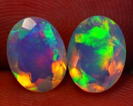 8X6 MM AAA QUALITY ETHIOPIAN CRYSTAL OPAL PAIR -AF331