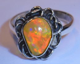 Sz6 RING QUALITY .925 STERLING FABULOUS OPAL