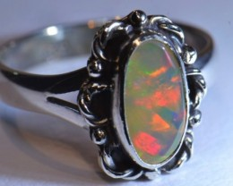 Sz6.5 SOLID WELO OPAL HIGH QUALITY .925 STERLING FABULOUS RING