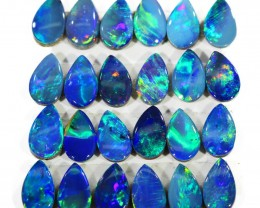 3.97CTS 24 PIECES CALIBRATED OPAL DOUBLET PARCEL GREAT COLOR PLAY -S200