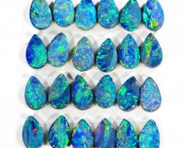 4.14CTS 24 PIECES CALIBRATED OPAL DOUBLET PARCEL GREAT COLOR PLAY -S201
