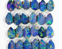 3.52CTS 24 PIECES CALIBRATED OPAL DOUBLET PARCEL GREAT COLOR PLAY -S203