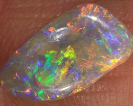 0.8ct 12.7x6.7mm Solid Lightning Ridge Crystal Opal Carving [LO-1066]