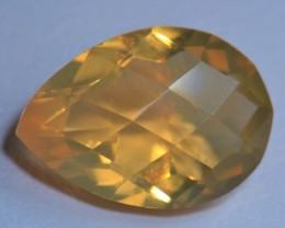 3.1CT MEXICAN FIRE OPALBRIGHT  FACETED STONE