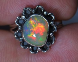 Sz6 SOLID WELO OPAL HIGH QUALITY .925 STERLING FABULOUS RING