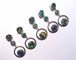 Parcel of 5 Australian Triplet Opal and Sterling Silver Pendan