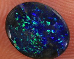 1.1ct 9x7.3mm Solid Lightning Ridge Black Opal [LO-1070]