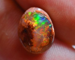 Mexican Matrix Cantera Fire Opal Wire  Wrap