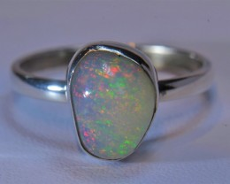 8.5 SZ ETHIOPIAN  SOLID OPAL QUALITY .925 STERLING FABULOUS
