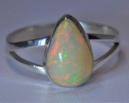 8SZ ETHIOPIAN  SOLID OPAL QUALITY .925 STERLING FABULOUS