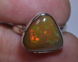 7.5sz ETHIOPIAN  OPAL QUALITY .925 STERLING FABULOUS RING
