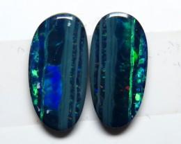 Australian Doublet Opal Freeform Pair