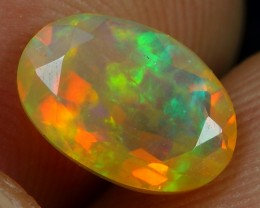Faceted 1.00cts Stunning Color Play Ethiopian Opal