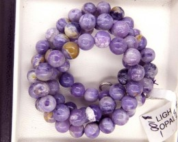 "129- CTS PURPLE OPAL BEADS - FROM MEXICO ""MORADO"" LO-4871"