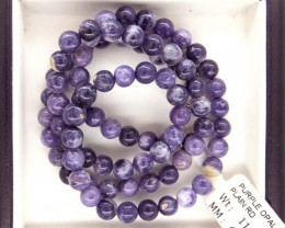 "111- CTS PURPLE OPAL BEADS - FROM MEXICO ""MORADO"" LO-4873"