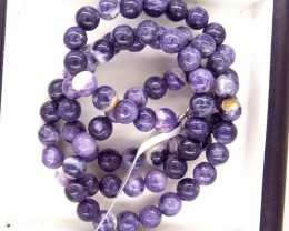 "122- CTS PURPLE OPAL BEADS - FROM MEXICO ""MORADO"" LO-4875"