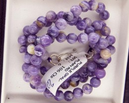 "106- CTS PURPLE OPAL BEADS - FROM MEXICO ""MORADO"" LO-4877"