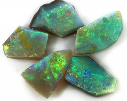 16Cts Sliced Mintabie rubl opal rough SU1333
