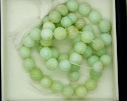 120- CTS GREEN PERUVIAN OPAL BEADS STRAND LO-4881