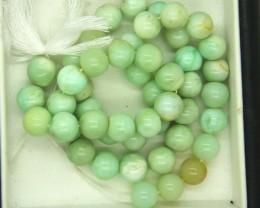 144- CTS GREEN PERUVIAN OPAL BEADS STRAND LO-4884