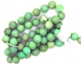 80- CTS GREEN PERUVIAN OPAL BEADS STRAND LO-4885