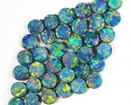 4.03CTS 36PIECES CALIBRATED OPAL DOUBLET PARCEL GREAT COLOR PLAY -S220
