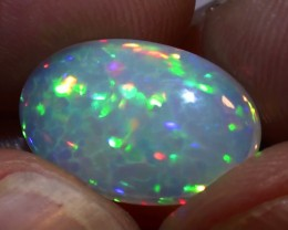 PRIVATE AUCTION 4.60 ct Welo Gem Honeycomb Full Rainbow Cab Opal