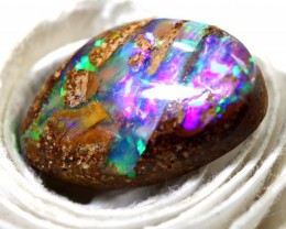 4.15CTS BOULDER PIPE OPAL POLISHED CUT STONE TBO-8385