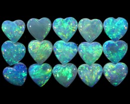 1.84 CTS HEART SHAPED CRYSTAL OPAL PARCEL CALIBRATED [SEDA1277]