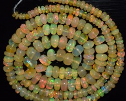 43.65 Ct Natural Ethiopian Welo Opal Beads Play Of Color