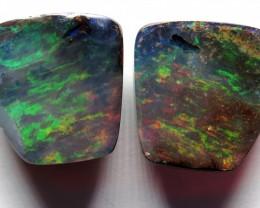 19.70ct Queensland Boulder Opal Pair